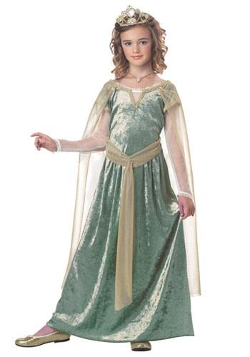 Disfraz infantil de Reina de Guinevere