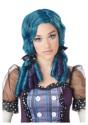 Peluca de rizos de muñeca azul / morado