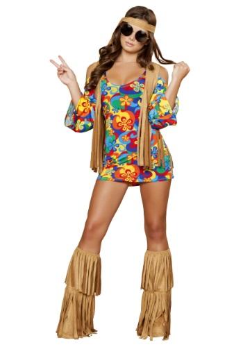 Disfraz de Hippie Hottie para mujer