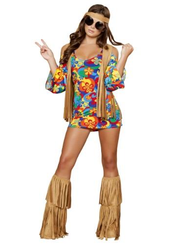 Disfraz de hippie hippie para mujer de talla grande
