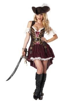 Traje de capitán de espadachín sexy de talla grande
