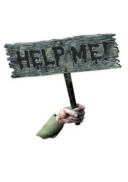 Brazo y signo Ayudame