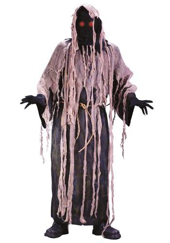 Disfraz de zombi con gasa luminosa para adulto