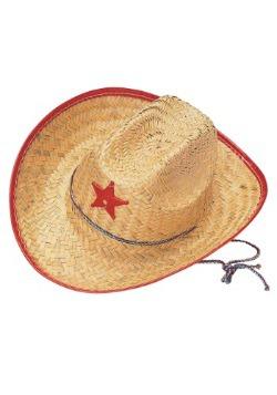 Sombrero de paja de vaquero para niños