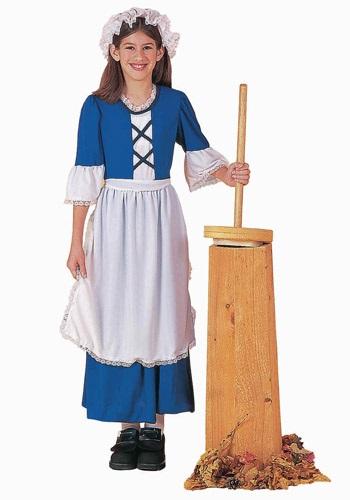 Disfraz infantil de chica colonial
