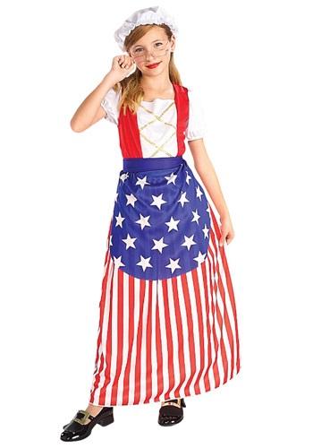 Disfraz para niñas de Betsy Ross