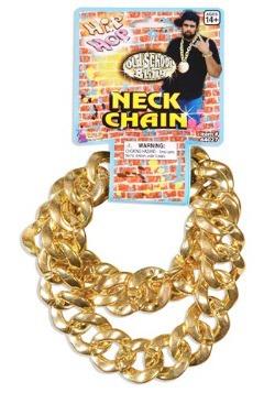 Collar de cadena grande de eslabón dorado