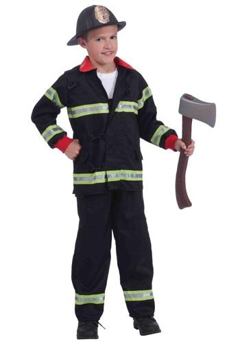 Disfraz de bombero negro para niños