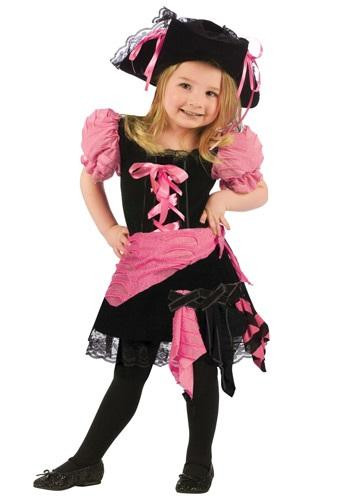 Disfraz de pirata rosa punk para niños pequeños