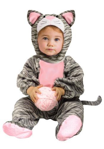 Disfraz de gatito gris a rayas para niños pequeños