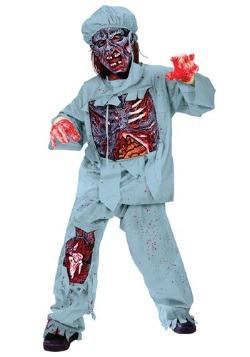 Disfraz de doctor zombie para niños