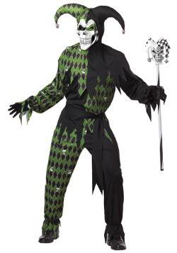 Disfraz de bufón verde espeluznante para hombre