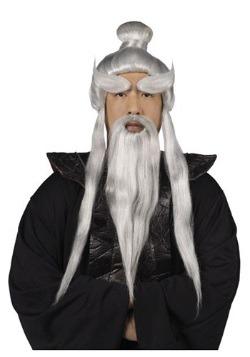 Set de peluca y barba Sensei