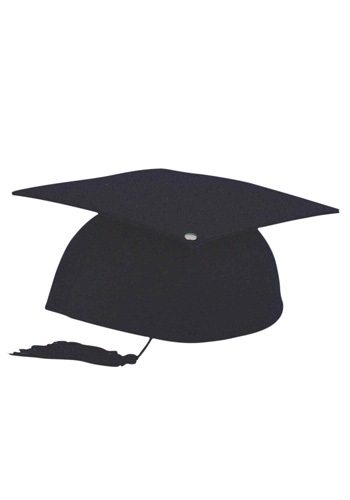 Gorro de graduación negro