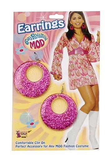 Pendientes rosa estilo Mod