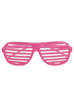 Neon Pink Shutter Shades 80's Glasses