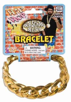 Brazalete de eslabones con cadena dorada