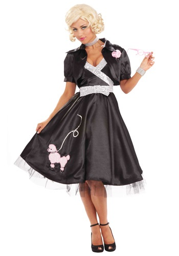 Disfraz de diva poodle de los años 50
