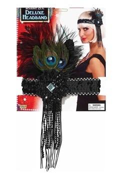 Cinta para el pelo deluxe de pavo real estilo flapper