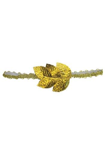 Cinta para el pelo romana con hojas doradas