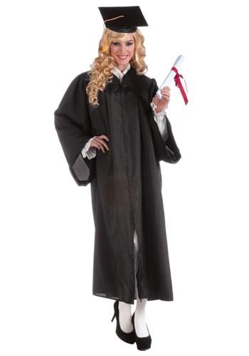 Bata de graduación negra para adulto