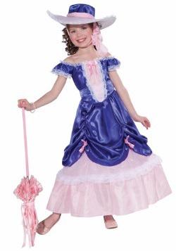 Disfraz infantil de belleza sureña en flor