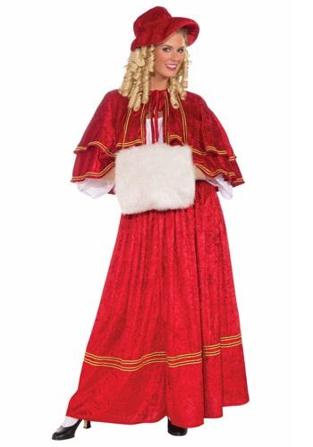 Disfraz de cantante de villancicos de Navidad