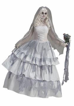 Disfraz de novia fantasmagórica victoriana