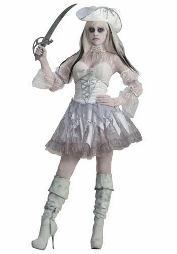 Disfraz de pirata fantasma de Spirit of the Seas para mujer