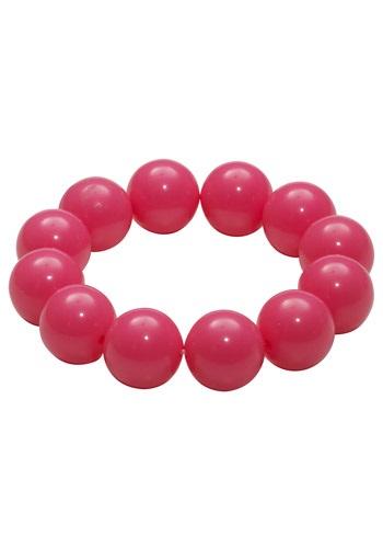 Pulsera rosa de goma de mascar de los años 80
