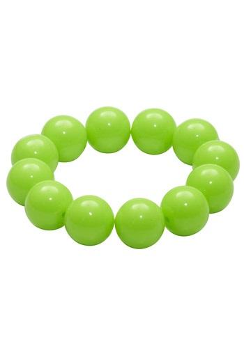 Pulsera de bolas de goma de mascar verde de los años 80