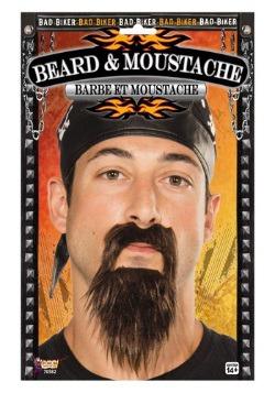 Barba y bigote de motociclista