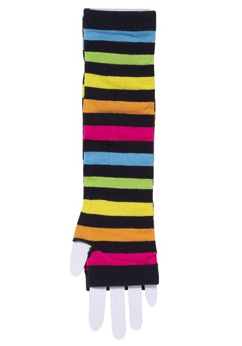 Los guantes a rayas arcoíris de los años 80