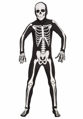 Disfraz de huesos para niños