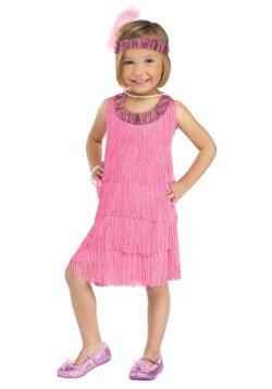 Disfraz infantil estilo flapper rosa