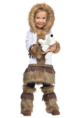 Disfraz de esquimal de niñas pequeñas