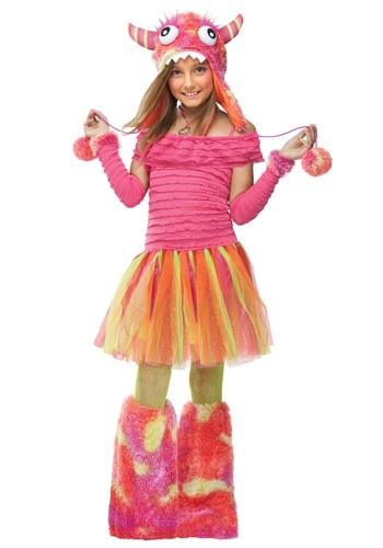 Disfraz de monstruo infantil salvaje para niñas