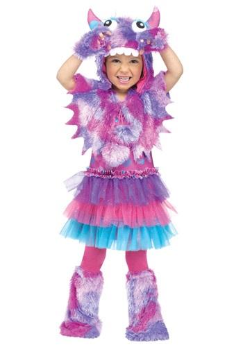 Disfraz de monstruo con lunares para niños pequeños