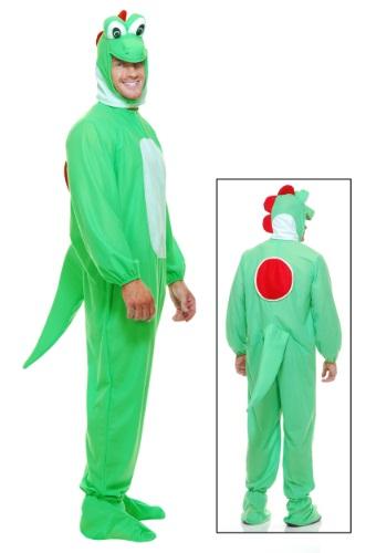 Frente de disfraz de dragón verde adulto