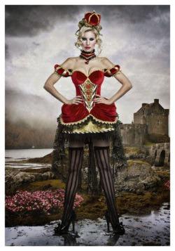 Disfraz de lujo de la Reina de corazones para adulto
