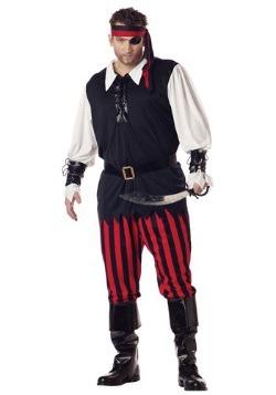 Disfraz de pirata garganta cortada talla extra