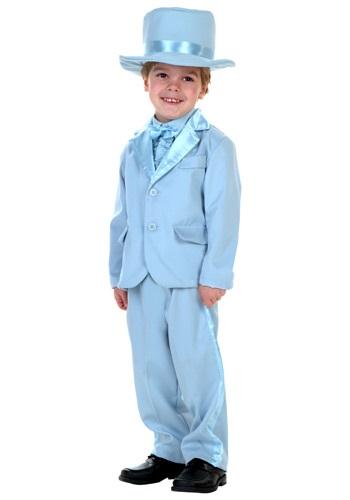Esmoquin azul para niños pequeños