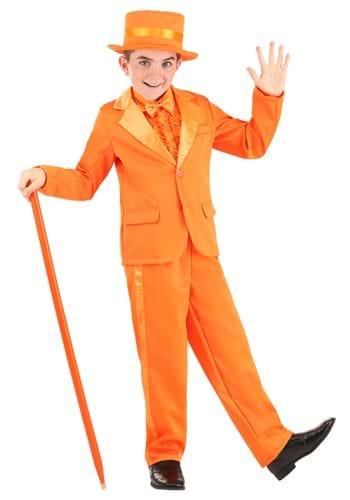 Chaqueta de esmoquin naranja infantil