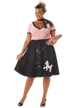 Disfraz de novia de los 50 talla extra