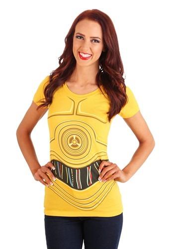 Camiseta de Disfraz C3PO de Star Wars para Mujer