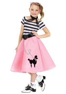 Vestido de falda de caniche de niña
