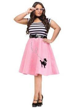 Vestido con falda de poodle talla extra