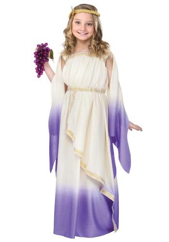 Disfraz de diosa morada para niñas