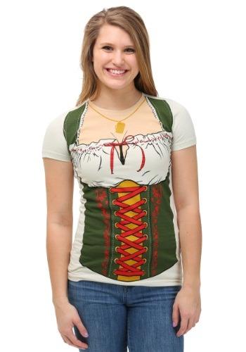 Mujeres Oktoberfest Fraulein Camiseta Front