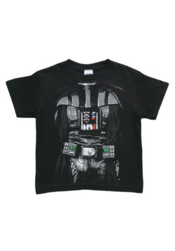 Niños Dark Star Wars Darth Vader Costume Camiseta Front